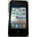 IPHONE 4G/4S COUVERCLE NOIR EN PLASTIQUE