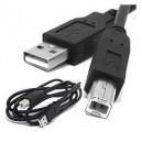 USB 2.0 CABLE POUR IMPRIMANTE 6PI A-B/ M-M