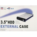 HDD USB 2.0 High Speed External Case 3.5-inch IDE/SATA