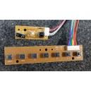 PROSCAN Boutons de contrôle & Carte de capteur IR V06-7KEY / PLCD3956A