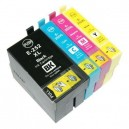 EPSON 252XL Compatible Black, Cyan, Magenta & Yellow Ink Cartridges Combo Pack