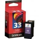 Lexmark 33 Cartouche d'encre couleur 18C0630, 18C0033