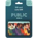 Public Mobile MULTI FORMAT (STANDARD - MICRO- NANO)CARTE SIM